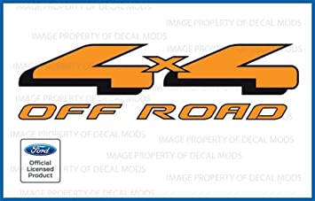09-11 Ford F150 FX4 Off Road Decals FO offroad Stickers Truck 4x4 bed Orange