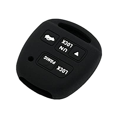 SEGADEN Silicone Cover Protector Case Skin Jacket fit for TOYOTA LEXUS 3 Button Remote Key Fob CV2423 Black: Automotive