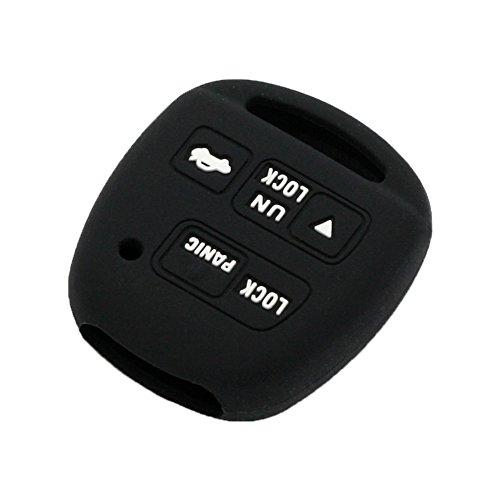 3 Button Remote Silicone - SEGADEN Silicone Cover Protector Case Skin Jacket fit for TOYOTA LEXUS 3 Button Remote Key Fob CV2423 Black