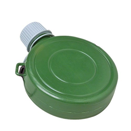 Set of 12 Green Mini Plastic Canteen Toys