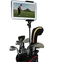 Golf Gadgets | Golf Bag Video Recording & Mount System Using Your Phone or Tablet. Capture Footage on the Course or Range. (Telescoping Bag Pole)