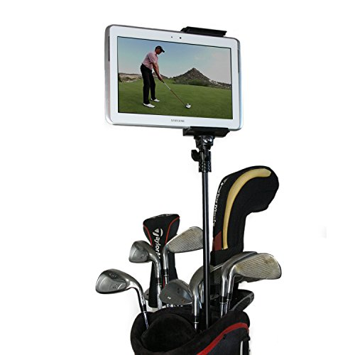 Golf Gadgets | Golf Bag Video Recording & Mount System Using Your Phone or Tablet. Capture Footage on the Course or Range. (Telescoping Bag Pole) by Golf Gadgets
