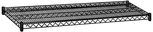 Additional Shelving - Salsbury Industries 9158BLK 60-Inch Wide by 18-Inch Deep Additional Shelf for Wire Shelving, Black