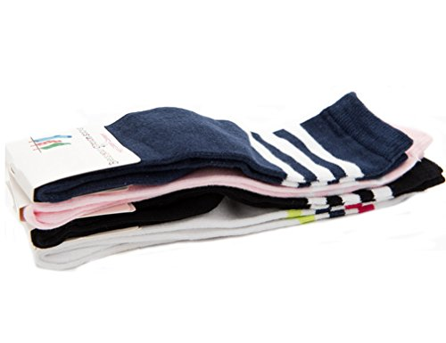 Ewandastore 1 Pair Cotton Over Knee High Long Soccer Socks,Stripe Pattern School Team Dance Sports Socks for 4-5 Years Old Kids Girls Boys Toddlers