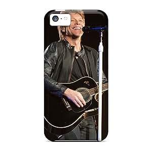 JonBradica Iphone 5c Durable Hard Phone Cases Customized Lifelike Bon Jovi Band Pictures [oLC13157sjld]