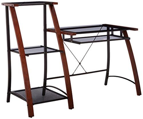 Z-Line Designs Triana Desk & Bookcase, - Bookcase Cherry Glass