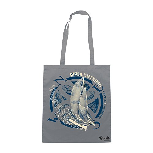 Borsa BARCA A VELA SAIL DIFFERENT - Grigio - MUSH by Mush Dress Your Style