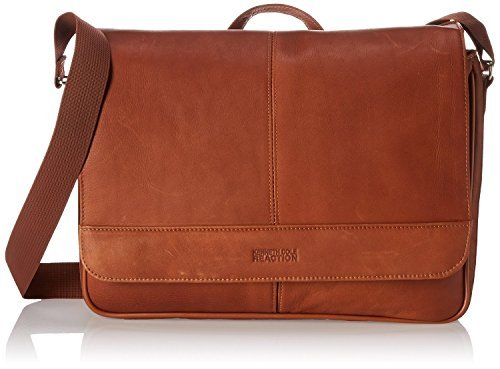 Kenneth Cole Reaction ''Risky Business'' Leather Messenger Bag/Briefcase