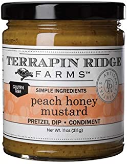 product image for Peach Honey Mustard by Terrapin Ridge Farms – One 11 oz Jar