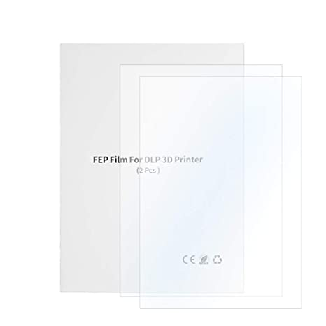 Calorbot 3 Pcs FEP Release Film for DLP Photon LCD ELEGOO Mars 3D Printer 0.15mm Thickness High Transmittance Strength