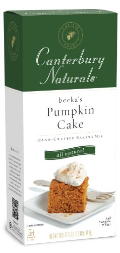 Canterbury Naturals Pumpkin Cake Mix, 16.5-Ounce Packages (Pack of 6)