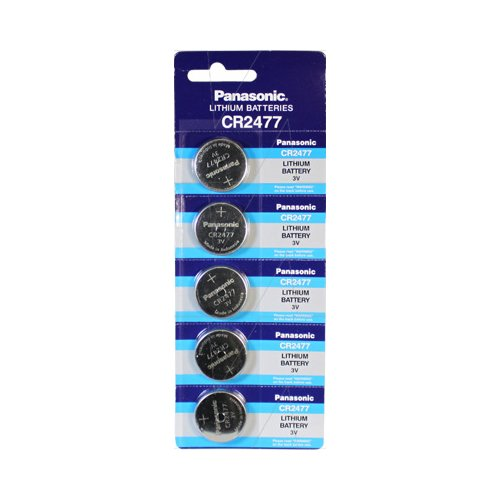 PANASONIC BATTERIES CR2477 BATTERY, LITHIUM, 3V, COIN CELL (5 pieces) by PANASONIC BATTERIES