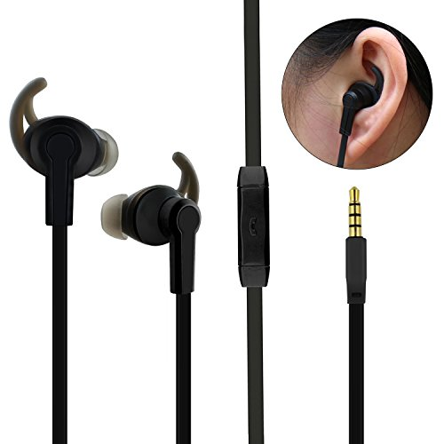 Sport Ear phones In-ear Earbuds with Stereo Mic Running Headphones Noise Cancelling Earbuds for iPhone Sony LG Samsung with Carry Case