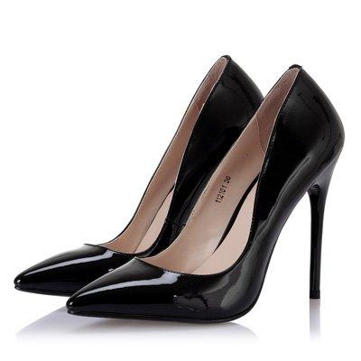 FLYRCX Frühling und Herbst sind fein mit einem sexy sexy sexy Persönlichkeit Patent Heels lady Parteiarbeit Schuh  schwarz 741a85