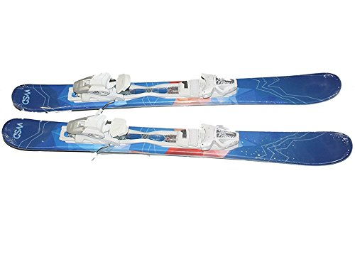 WSD Ski Boards Blue Diamonds with Mount Tyrolia SLR 9.0 AC Adult Adjustable White Bindings Set New,...