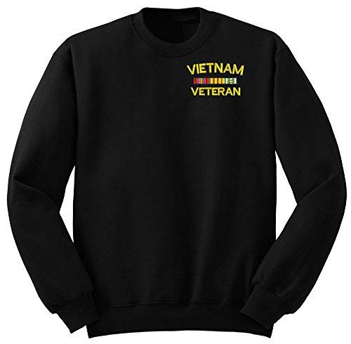 (Vietnam Veteran Military Crew Neck Sweatshirt Large)