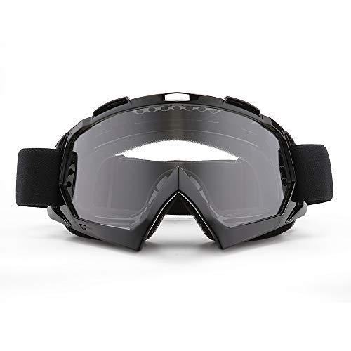 SPOSUNE Motorradbrille, ATV Dirt Bike Off Road Racing MX-Fahrbrille Anti-Scratch Staubdicht Biegbar UV400 Brille…