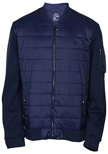 Polo Ralph Lauren Men's Double Knit Quilted Bomber Jacket - XXL - Navy]()