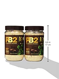 Bell Plantation PB2 Powdered Peanut Butter with Premium Chocolate, 16 Ounce (Pack of 2)