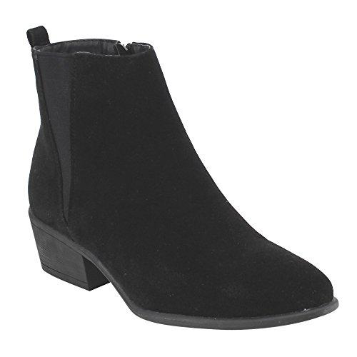 Beston DE04 Women's Chelsea Style Side Zipper Ankle Booties Half Size Small