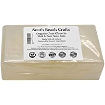 Organic Oil Clear - 2 Lbs Melt and Pour Soap Base - South Beach Crafts