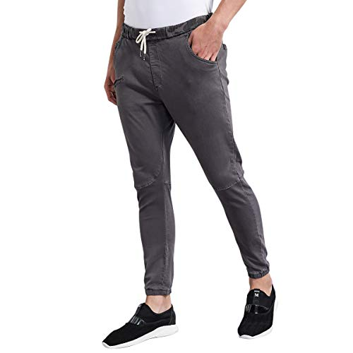 98aa5763c5 Eaglide Mens Slim Fit Chino Jogger Pants, Mens Athletic Boys Casual Cargo  Khaki Pants