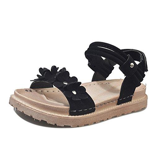 Strap Women Black Beaded Women Flop Slipper Bohemia T Flat Summer pit4tk Shoes Sandals Owl Sandals Women Flip wOtanxqgX
