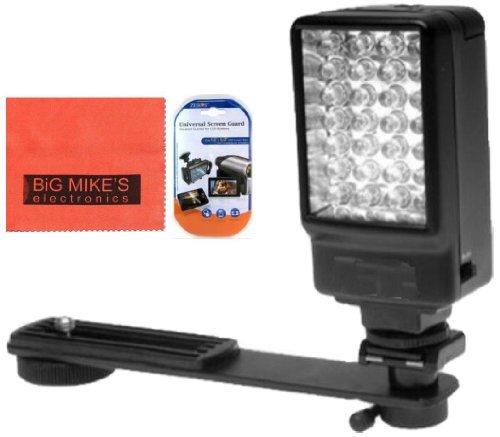 Deluxe 5500K LED Video Light For Canon Vixia HFM30 HFM31 HFR32 HFR50 HFR52 HFR500 HFM40 HFM41 HFM50 HFM52 HFM301 HFM400 HFM500 Camcorder + More!!