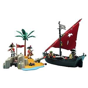 Playmobil 5646 Barco Y Isla Piratas XZuiOkTlwP