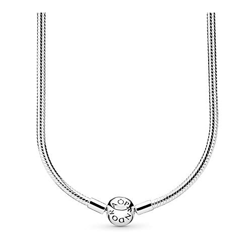 - PANDORA Sterling Silver Charm Necklace, 16.6 IN