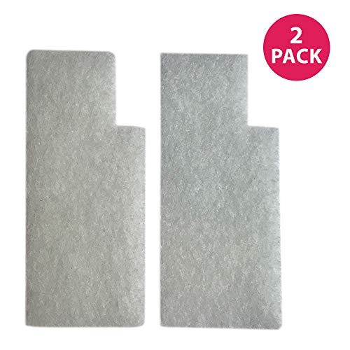 Crucial Vacuum Filter Replacement Parts Compatible with Hoover Secondary Filters Part # 38765019, 38765023 - Fits Hoover Tempo, WidePath, Fold Away, and WindTunnel Vacuums - Perfect for Home (2 Pack) ()
