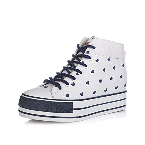 coreana de sigilo correa de A aumentado Plataforma Hi muffin zapatos Versión de con de mujeres lona Dulces zapatos OgYtq