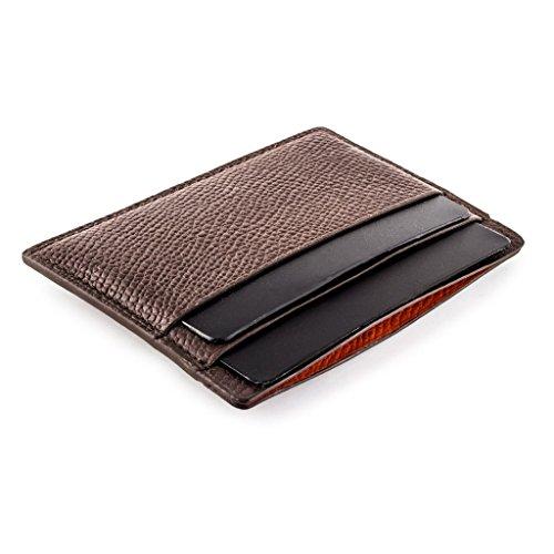 carte marrone Cb Porta pelle granuloso lusso in di Pelle di credito vitello di Bank Paris Custodia W6nfSxvI