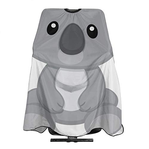 Trendy Cute Koala Bear Salon Hair Cut Hairdressing Hairdresser Waterproof Barbers Cape Gown Haircut Apron Dyeing Styling Cloth for Adult/Women/Men