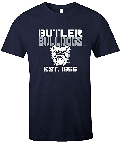 NCAA Butler Bulldogs Est Stack Jersey Short Sleeve T-Shirt, Navy,Medium ()