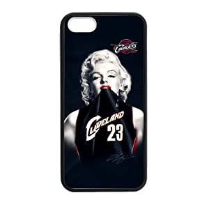Fashion Funny Marilyn Monroe Cavaliers Cleveland LeBron James #23 Case Cover for iPhone 5,5S TPU Laser Technology