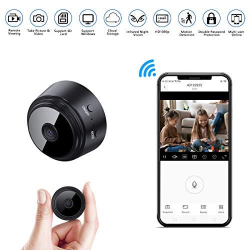 🥇 Mini-Spy-Camera-WiFi 1080P Wireless Hidden Camera
