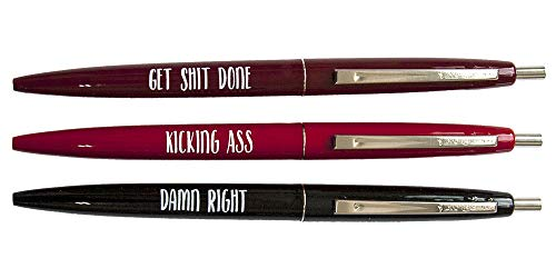 Sweary ballpoint pens for everyone, great office gifts for boss, cute school office supplies for her, funny birthday gift