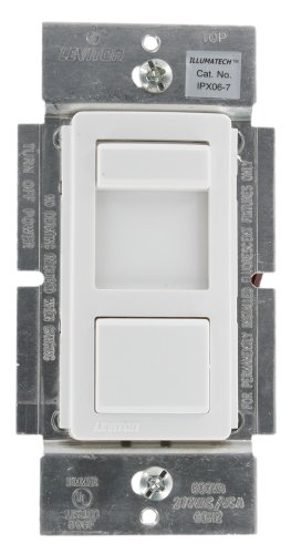 Leviton IPX06-70Z IllumaTech 600VA 277VAC Preset Mark 10 Powerline Fluorescent Slide Dimmer, Single Pole and 3-Way, White/Ivory/Light (Fluorescent Mark 10 Dimmers)