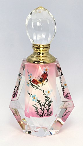 Butterfly in Pink Paradise Hand-Painted Multi-cut Crystal...