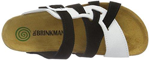 Dr. Brinkmann 700885 - Mules Mujer Negro - Schwarz (Schwarz/Weiß)