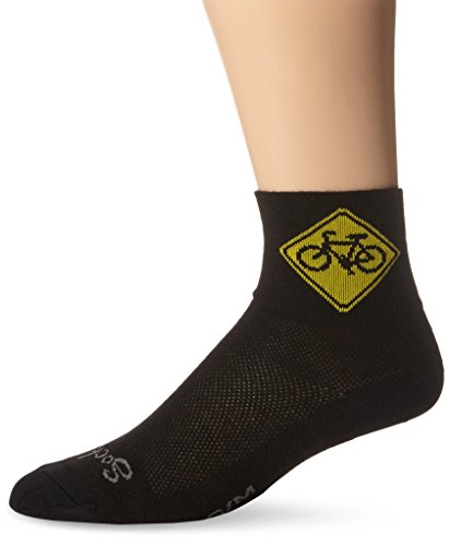 SockGuy Black Classic Socks - Men's, Sock Size:10-13/Shoe Size: 6-12 from SockGuy