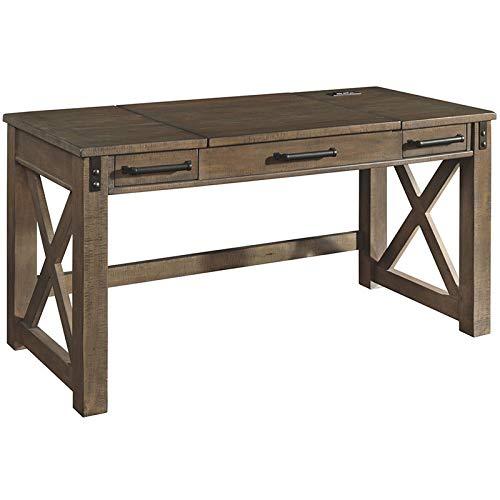 Signature Design by Ashley Aldwin Home Office Lift Top Desk Gray