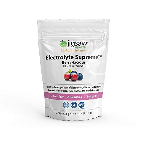 Jigsaw Health - Electrolyte Supreme - Broad Spectrum of Electrolytes + Trace Minerals - 60 Servings (Berry, Packets)