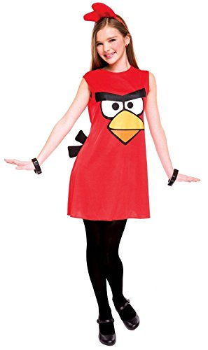 Paper Magic Angry Birds Child Dress Costume, Red, Medium