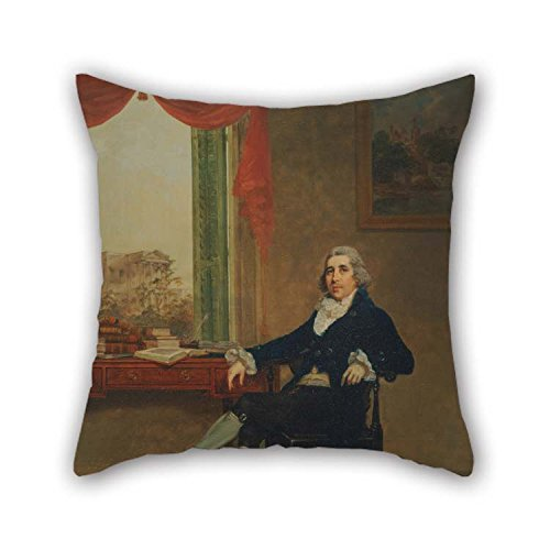 16 X 16 Inches / 40 by 40 cm Oil Painting Thomas Hickey - Thomas Graham Throw Pillow Case 2 Sides Ornament and Gift to Deck Chair Divan Outdoor Deck Chair Pub Family -