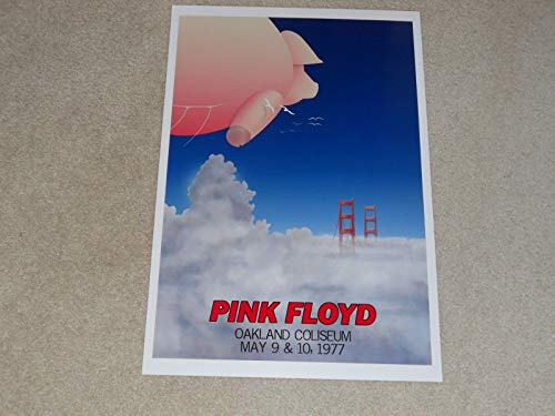 """Cleveland Vinyl Large Pink Floyd Oakland CA 1977 Concert Poster, 19""""x13"""" Animals Tour David Gilmour/Roger Waters"""