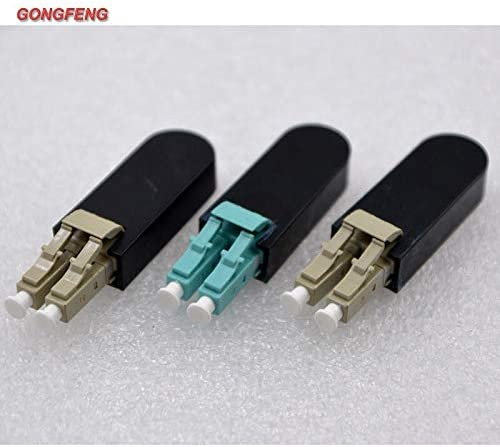 10 Pcs Lc Single Multimode Om3 Fiber Optic Connector Loop Back Test Connector Adapter Coupler Flange Stock-Home Color:Single Mode Apc; Insert Type:Male Insert