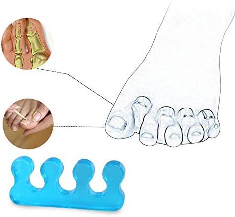 Tatapai Orthopädische Einlegesohlen 2 Stück = 1 Paar Weicher Silikon-Zehentrenner Teiler Flexibler Fingerabstandhalter Maniküre Und Zehen Nagelwerkzeuge Pink Blau -C