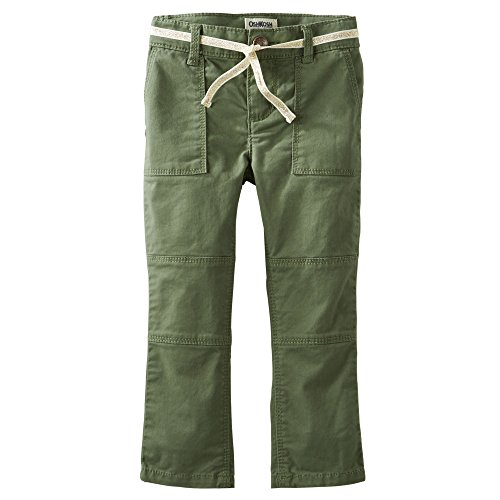 OshKosh B'gosh Toddler Girls Skinny Field Twills/Pants (2t, Green) -